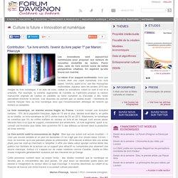 """Contribution : """"Le livre enrichi, l'avenir du livre papier ?"""" par Marion Pilarczyk"""