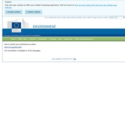 How to submit your contribution - Environment - European Commission