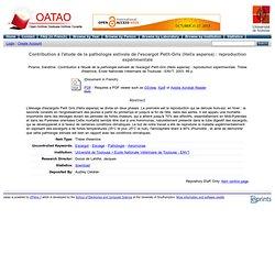 ENVT - 2003 - Thèse en ligne : Contribution à l'étude de la pathologie estivale de l'escargot Petit-Gris (Helix aspersa) : repro