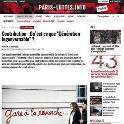 """Contribution : Qu'est ce que """"Génération Ingouvernable"""" ?"""
