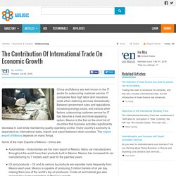 The Contribution Of International Trade On Economic Growth