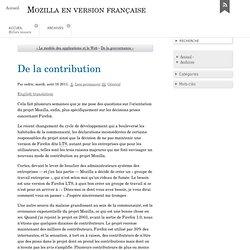De la contribution - Mozilla en version française