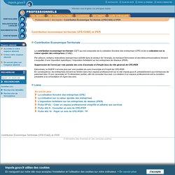 Contribution Économique Territoriale (CFE/CVAE) et IFER