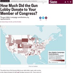 Map: The gun lobby's campaign contributions, by congressional district.