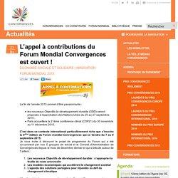 L'appel à contributions du Forum Mondial Convergences est ouvert !