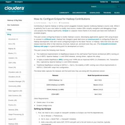 Configure Eclipse for Hadoop Contributions