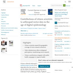 Curr Opin Insect Sci - AOUT 2018 - Contributions of Citizen Scientists to Arthropod Vector Data in the Age of Digital Epidemiology