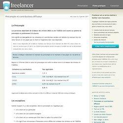 Précompte et contributions diffuseur - Freelancer
