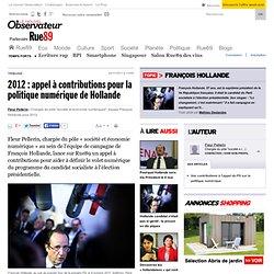 2012: appel à contributions pour la politique numérique de Hollande