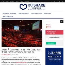 Appel à contributions : partagez vos idées pour le #OSFest15