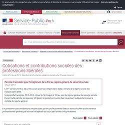 Cotisations et contributions sociales des professions libérales - professionnels