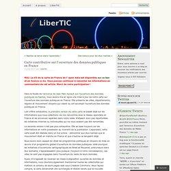 Carte contributive sur l'ouverture des données publiques en France «