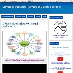 L'économie contributive, de quoi parle-t-on ? - Ars-praeceptorum - Valeur et partage des savoirs. Secteur Luxeuil les Bains, Lure et Saint-sauveur 70.
