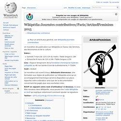 Wikipédia:Journées contributives/Paris/ArtAndFeminism 2015