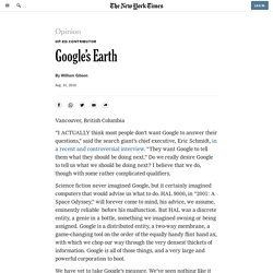 Op-Ed Contributor - Google's Earth