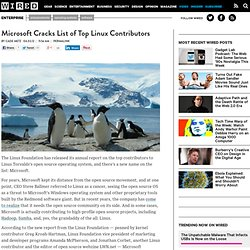 Microsoft Cracks List of Top Linux Contributors | Wired Enterprise