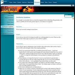 TTA Press - Crimewave: Crime & Mystery - Contributors' Guidelines