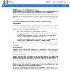 Requisitos y Condiciones para Contribuyentes emisores de Documentos Tributarios Electronicos