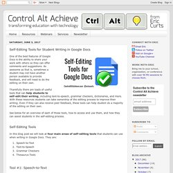 Control Alt Achieve: Self-Editing Tools for Student Writing in Google Docs