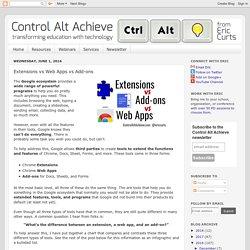 Control Alt Achieve: Extensions vs Web Apps vs Add-ons