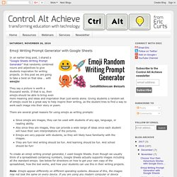 Control Alt Achieve: Emoji Writing Prompt Generator with Google Sheets