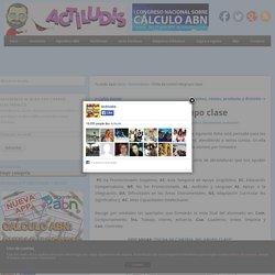 Ficha de control del grupo clase