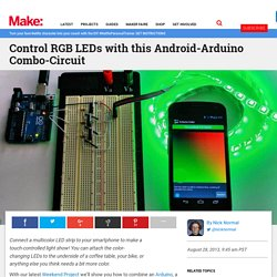 Control RGB LEDs with this Android-Arduino Combo-Circuit
