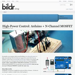 High-Power Control: Arduino + N-Channel MOSFET