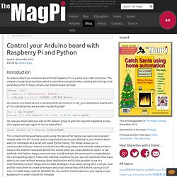 Control your Arduino board with Raspberry Pi and Python