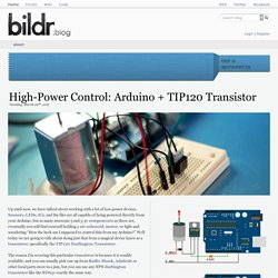High-Power Control: Arduino + TIP120 Transistor