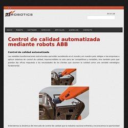 Control de calidad automatizada mediante robots ABB