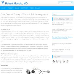 Gate Control Theory of Chronic Pain Management