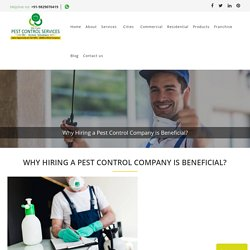 Why Hiring a Pest Control Company is Beneficial?