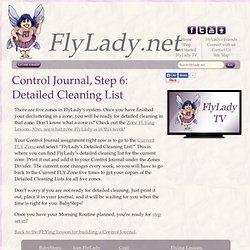 FlyLady Journal, Step 6: Detailed Cleaning List