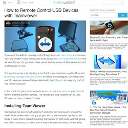 How to Remote Control USB Devices with Teamviewer