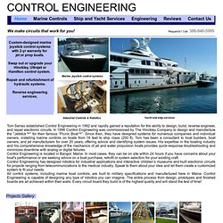 Control Engineering, Marine Joystick Controls, joystick boat control, Engineer, Manufacture, Installation and Repair Marine Automation and Control Systems