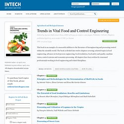 INTECH - AVRIL 2012 - Trends in Vital Food and Control Engineering – The Potential of Food Irradiation: Benefits and Limitations