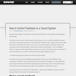 How to Control Feedback in a Sound System