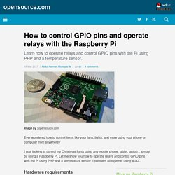 Control GPIO pins with the Raspberry Pi