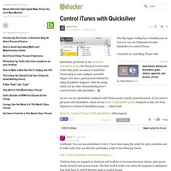 How to control iTunes with Quicksilver