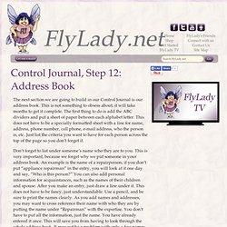 FlyLady Journal, Step 12: Address Book