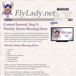 FlyLady Journal, Step 5: Weekly Home Blessing Hour