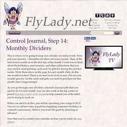 FlyLady Journal, Step 14: Monthly Dividers