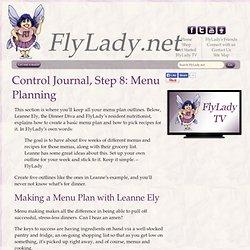 FlyLady Journal, Step 8: Menu Planning