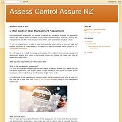 Assess Control Assure NZ: 5 Main Steps in Risk Management Assessment