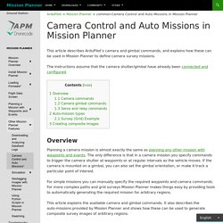 common-Camera Control and Auto Missions in Mission Planner