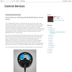Control Devices: Control Devices: Offering Gill Blade360 Rotary Sensor Online