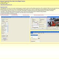 Remote Control for PowerShot Series Digital Camera