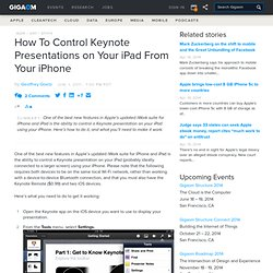 How To Control Keynote Presentations on Your iPad From Your iPhone — Apple News, Tips and Reviews