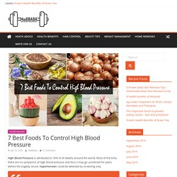 7 Best Foods To Control High Blood Pressure Diet without medication